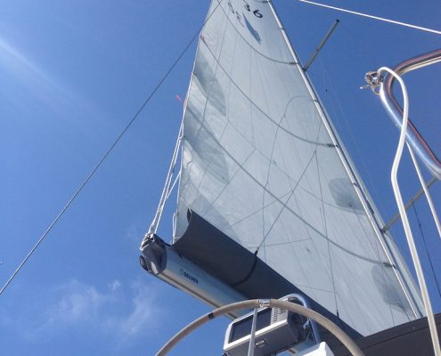Yachtcharter Windkracht 5 Hightech Segel