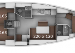 Windkracht5 Bavaria 41 Layout