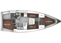 Bavaria 37/2 Layout Windkracht 5